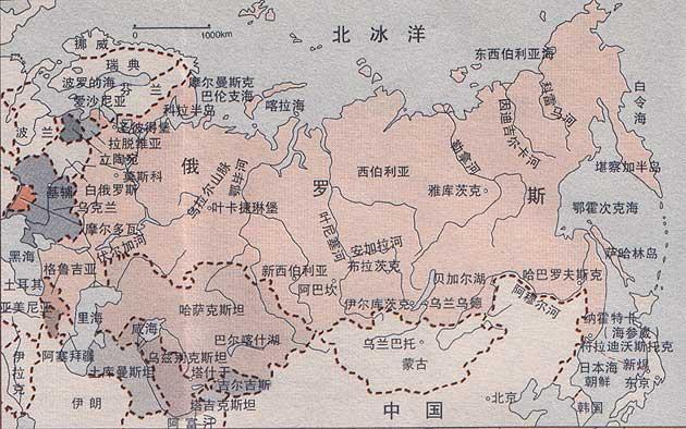 俄罗斯地图-俄罗斯地图中文版