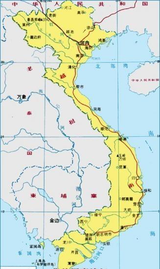 越南地图,越南地图中文版